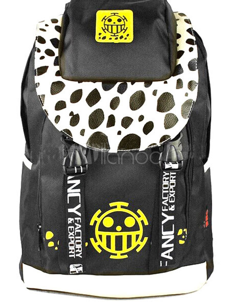 One Piece Trafalgar Law Anime Backpack The Heart Pirates Logo Backpack Halloween