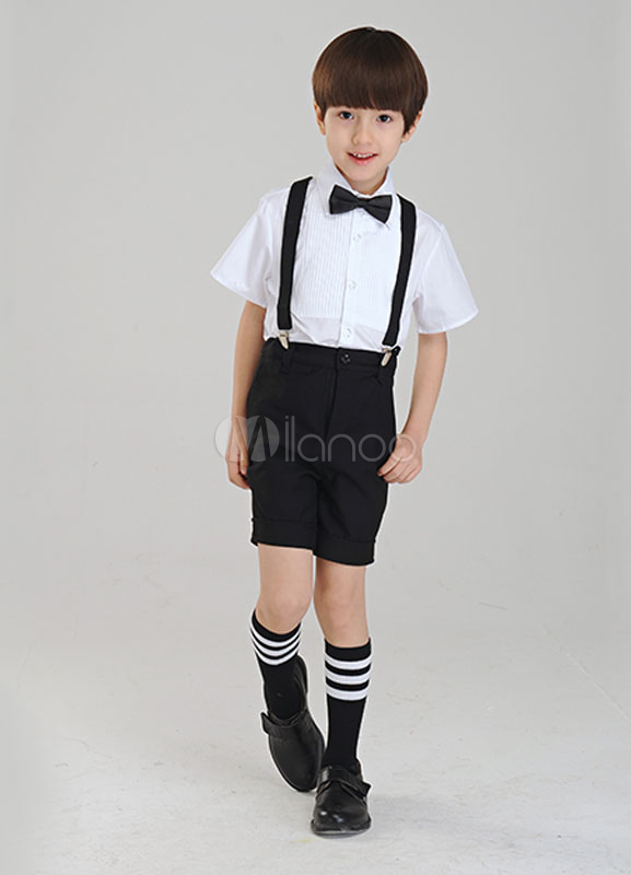 Two-Tone Boy's Suit Bow Tie Polyester Children's Suit