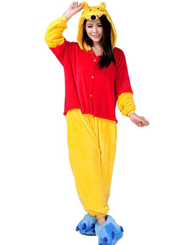 751a92d96eb5 Kigurumi Pajamas Onesie Winnie The Pooh Jumpsuit Polyester Costume  Halloween-No.1 ...