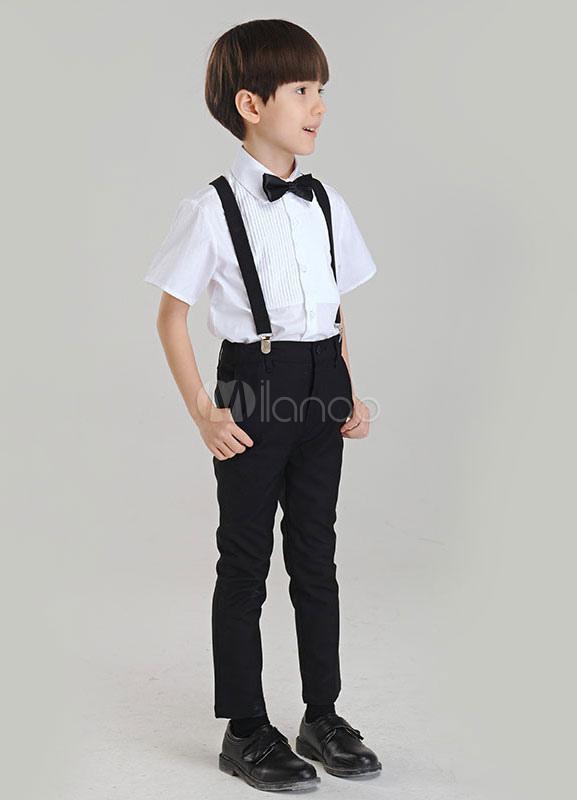 dbd177d23 Traje para niños de 3 piezas camisa tirantes pantalones - Milanoo.com