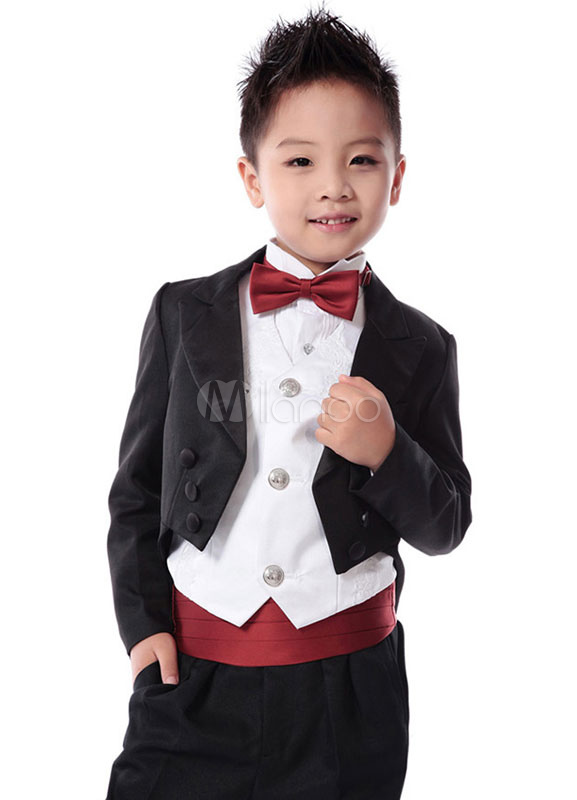 8d863936c609e Traje para niños de 6 piezas chaqueta chaleco camisa pantalones pajarita  faja