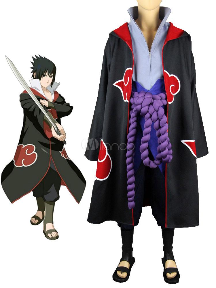 Naruto Uchiha Sasuke Akatsuki Halloween Cosplay Costume Halloween