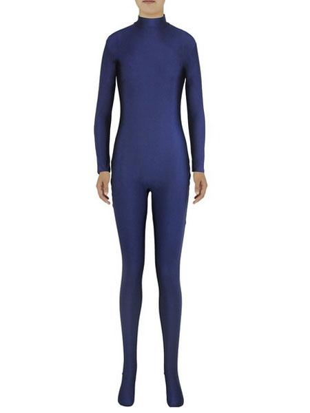 Halloween Slim Fit Spandex Jumpsuit for Women Navy Zentai Costume Cosplay Halloween