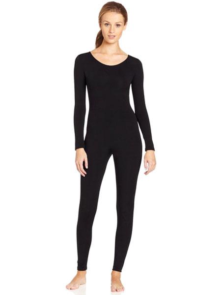 Halloween Black Zentai Slim Fit Trendy Spandex Jumpsuit for Women Halloween