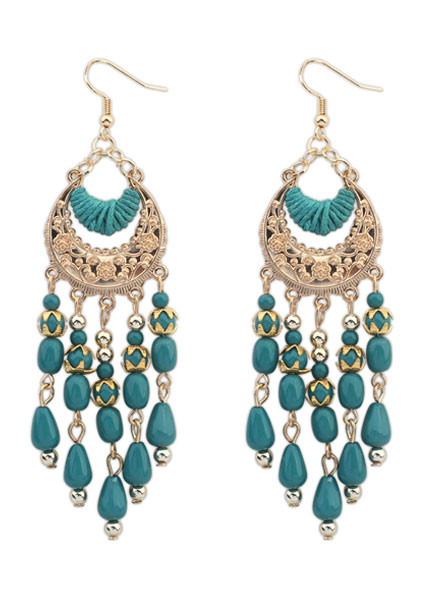 Multicolor Earrings Fringe Boho Metal Earrings for Women