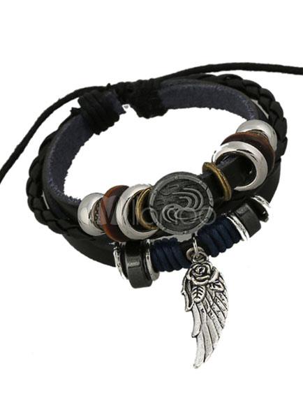 Multicolor Bracelet Faux Leather Chic Bracelet for Men