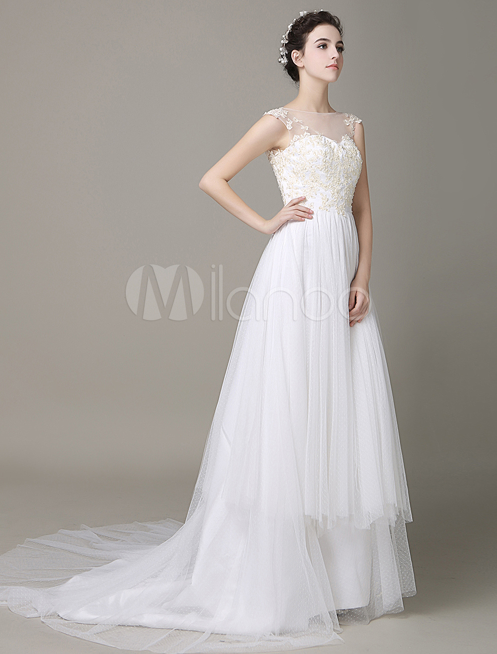 robe de mariage ivoire illusion backless hi rarchis