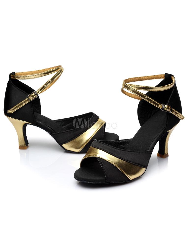 dos de Latin tonos Satén Dance tacones sandalias correas B6q1x