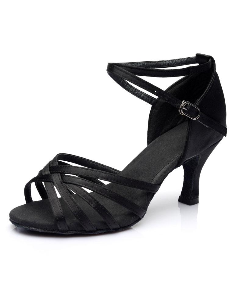 Negras Zapatos Sandalias Baile Zapatillas Latinas De Latino wffrXxWq8