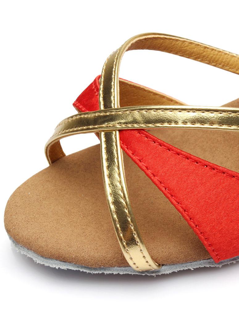 Sandalias de baile latino multicolor correas satén tacones Ks8TcdOo