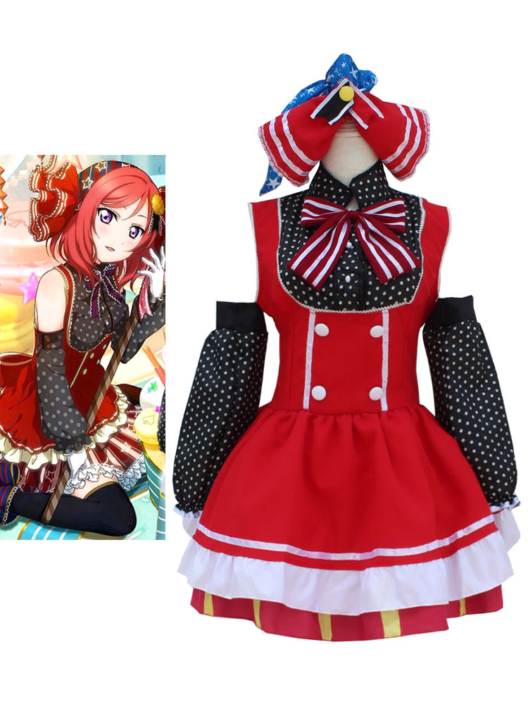 LoveLive! Nishikino Maki Halloween Cosplay Costume Candy Version Halloween