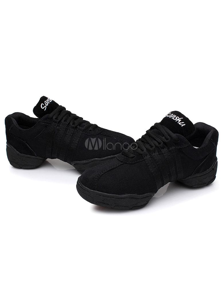 Zapatos baile negro encaje textil zapatos deportivos para mujeres bHSNH8x7
