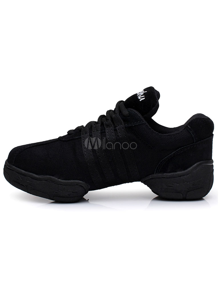 Zapatos baile negro encaje textil zapatos deportivos para mujeres VLReCG5lto