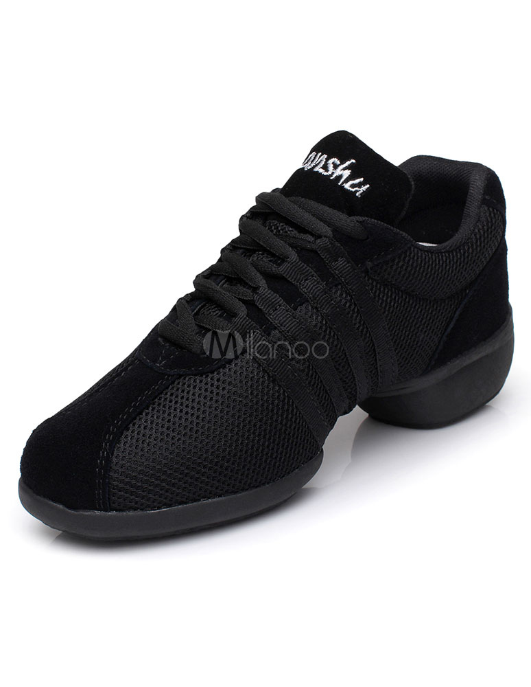 Baile negro zapatos textil zapatos deportivos para mujeres hUjte6ff