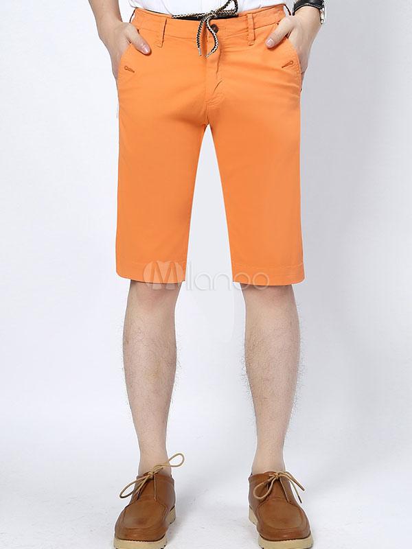 jaune short pantalon coton imprim chic pour hommes. Black Bedroom Furniture Sets. Home Design Ideas