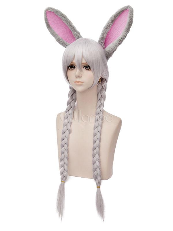 Buy Zootopia Judy Hopps Rabbit Halloween Cosplay Wig Gray Straight Synthetic Halloween for $17.99 in Milanoo store