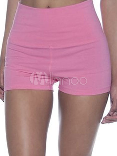 Pink Sports Shorts Slim Fit Cotton Shorts for Women