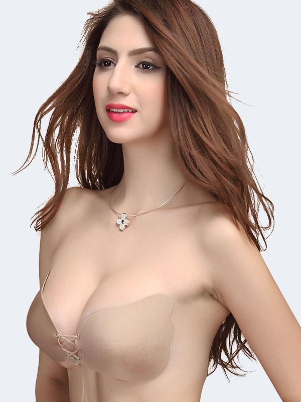 fea52eeea75b4 ... Sujetadores 2019 Moda Mujer Desnuda Nubra algodón Push Up sin tirantes  ropa interior sujetador volar para ...