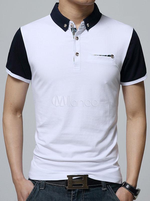 White Polo Shirt Chic Cotton Polo Shirt for Men
