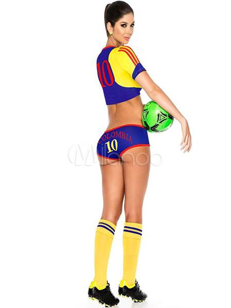 Mujer vestido seleccion colombia