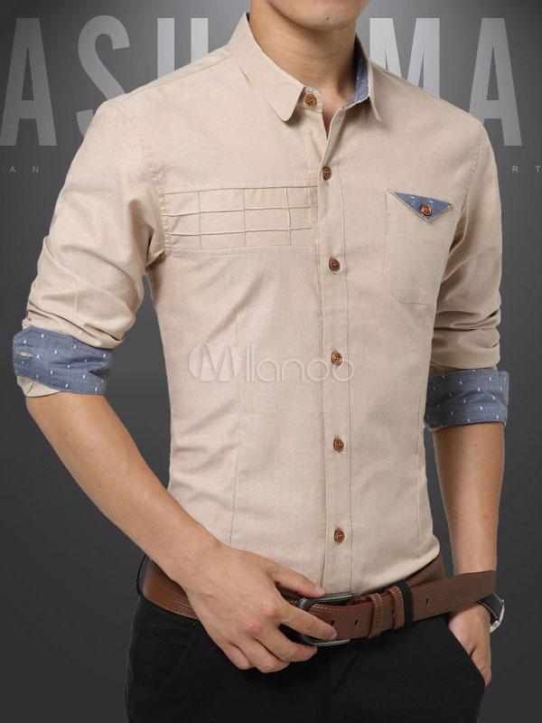 graues hemd langarm baumwolle l ssig shirt f r m nner. Black Bedroom Furniture Sets. Home Design Ideas