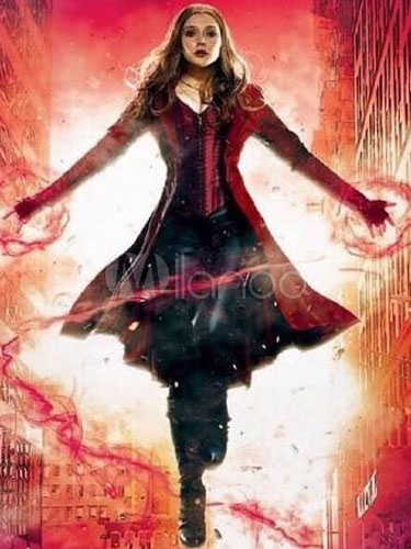 Captain America: Civil War Scarlet Witch Wanda Maximoff cosplay costume Halloween