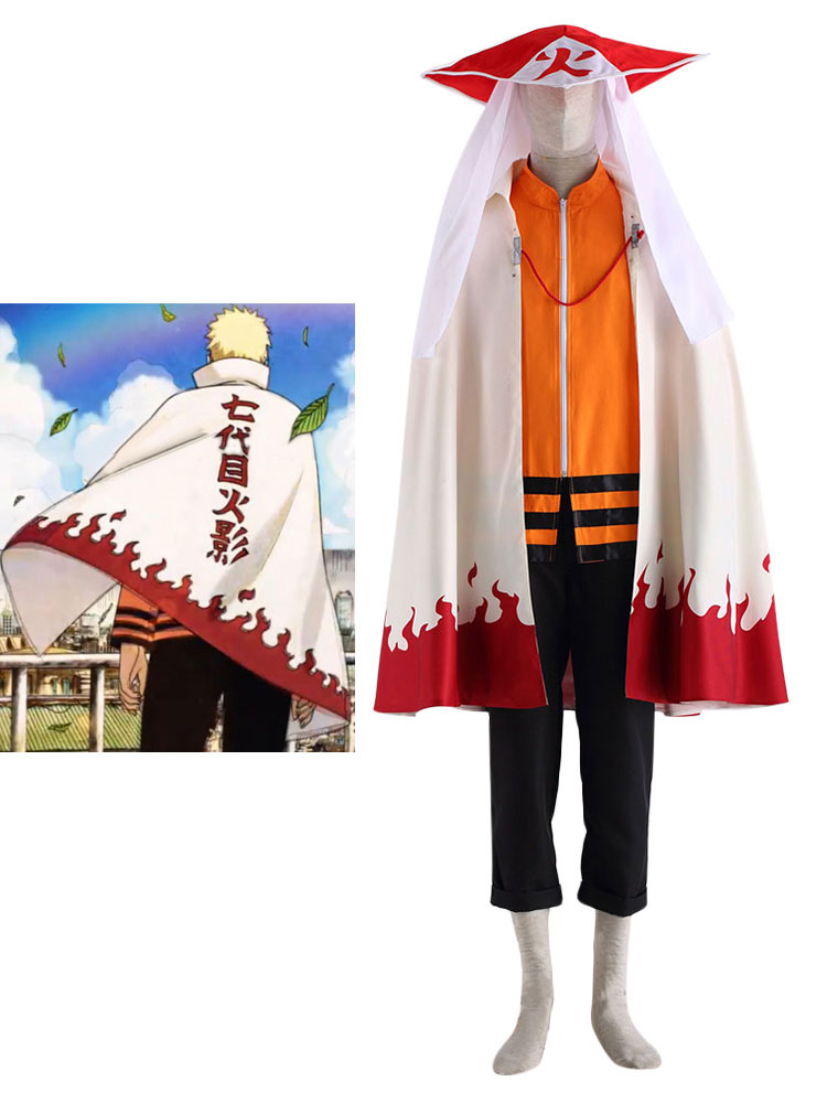 NARUTO  Seventh Hokage Cosplay Costume Halloween