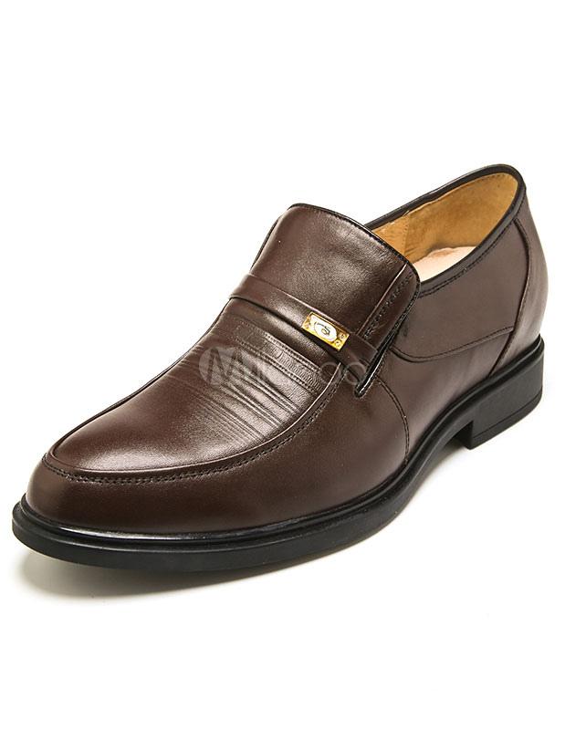 Peau de vache noir chaussures cuir Chic pour hommes