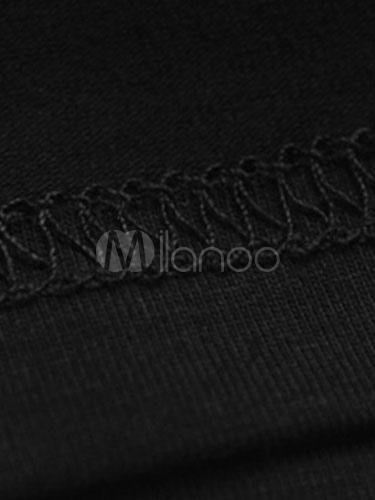 ... Camiseta negra Letras arma impresión manga corta algodón camiseta para  los hombres-No.4 1507465e6a62