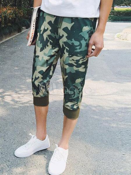 sarouel imprim chic camouflage shorts pantalon slim fit coton pour hommes. Black Bedroom Furniture Sets. Home Design Ideas