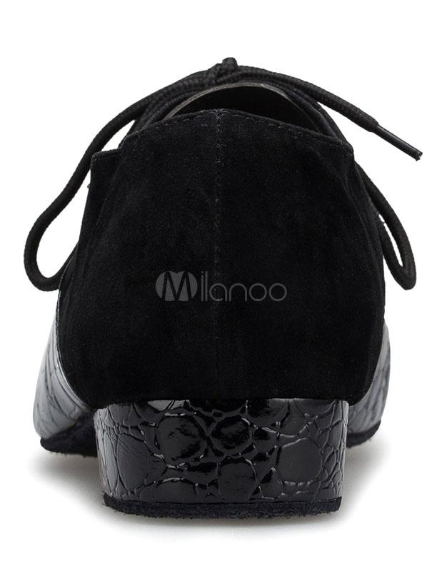 Negro latino zapatos Print Croco ATA para arriba el salón de baile zapatos de la PU para los hombres vCxehxt