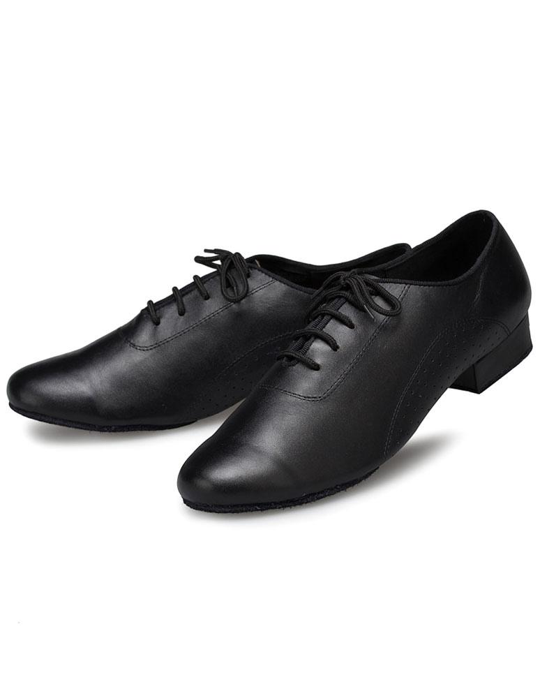 Zapatos baile latino zapatos negro Latin Dance baile zapatos de la PU para los hombres 1Fn2ytXM5x
