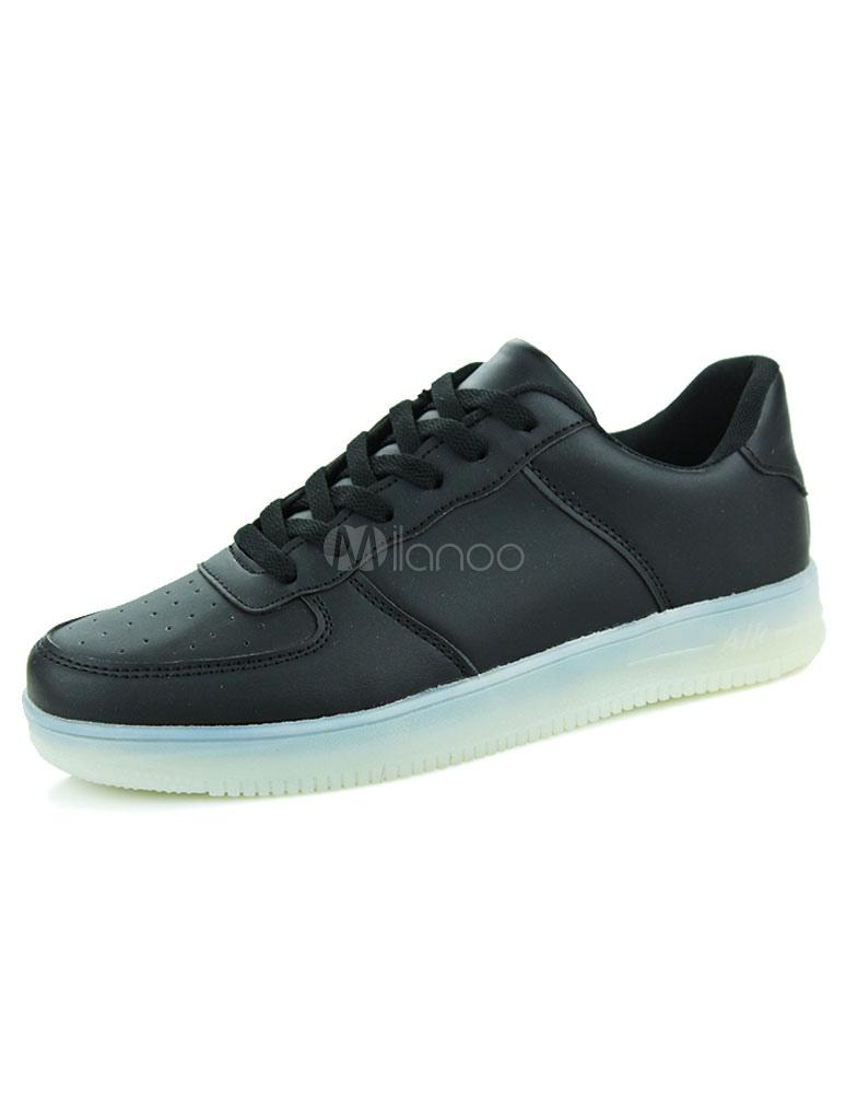 320f41a27a375 Zapatillas elegantes negro encaje PU zapatos Casual para hombres -No.1 ...