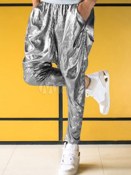 Silver Harem Pants