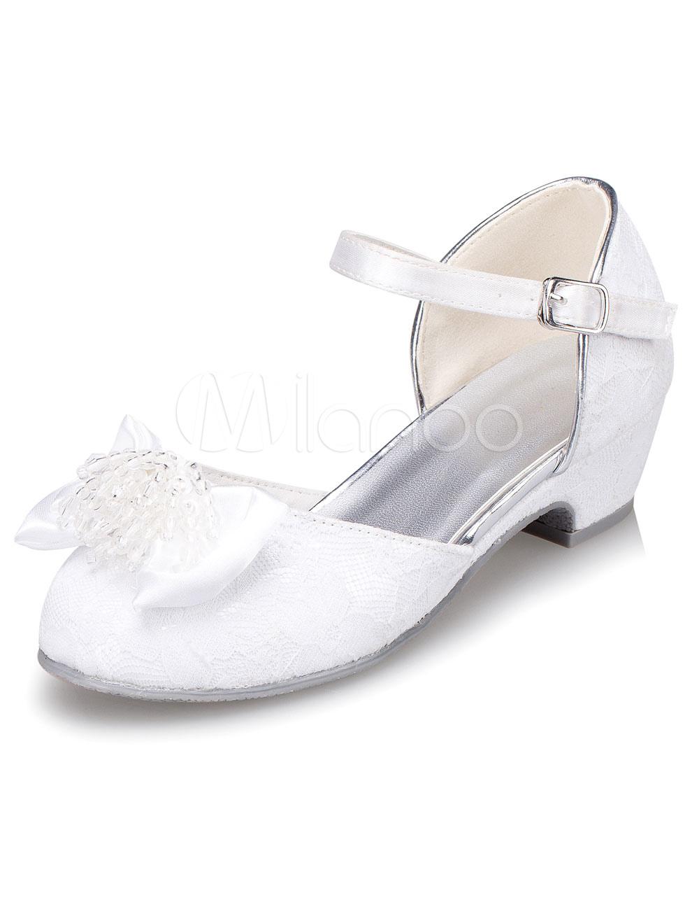 60751eaaa ... niña de las flores blancas correas de la PU zapatos para niñas -. 12.  -30%. color blanco
