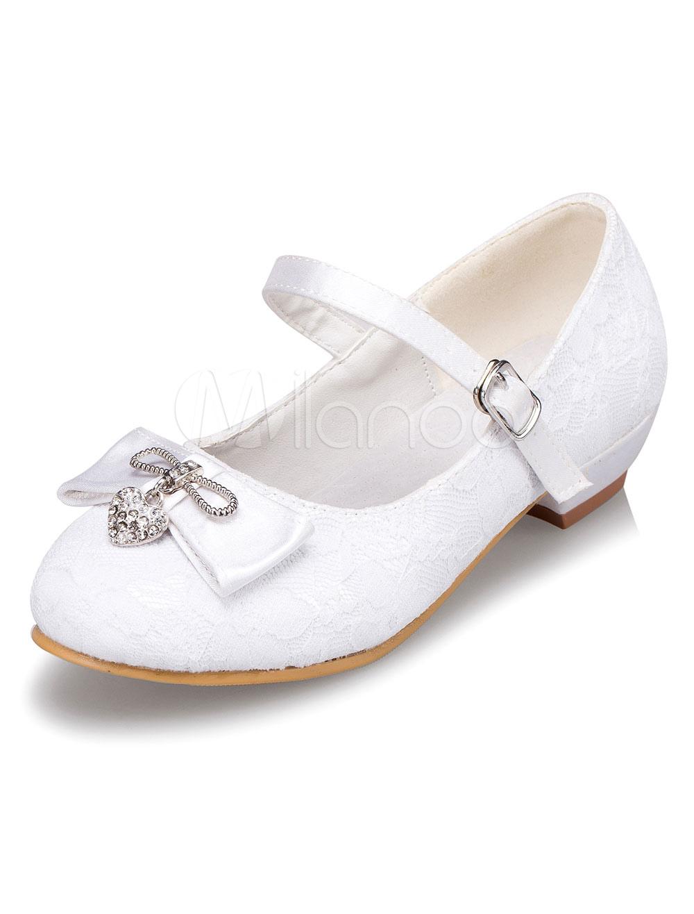 b0ca9d70f ... Lazo blanco niña de las flores las correas PU zapatos para niñas -No.7.  12. -20%. color blanco