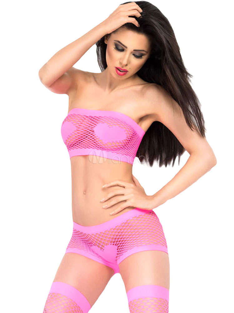 d40ad010e5d ... Fishnet Bra and Panties Polyester Sexy Lingerie Suit for Women -No.2 ...