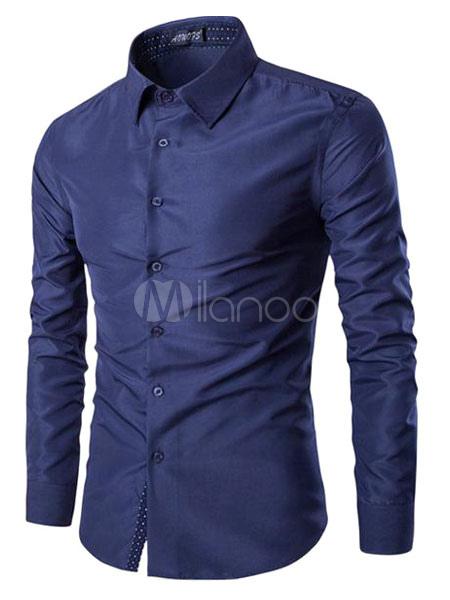 Dark Navy Shirt Cotton Casual Shirt for Men