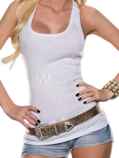 Rosy Crochet Lace Back Tank Top Cheap clothes, free shipping worldwide