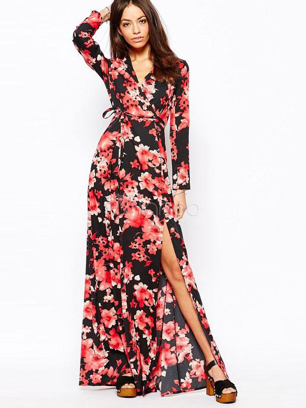 Vestidos largos con estampados de flores