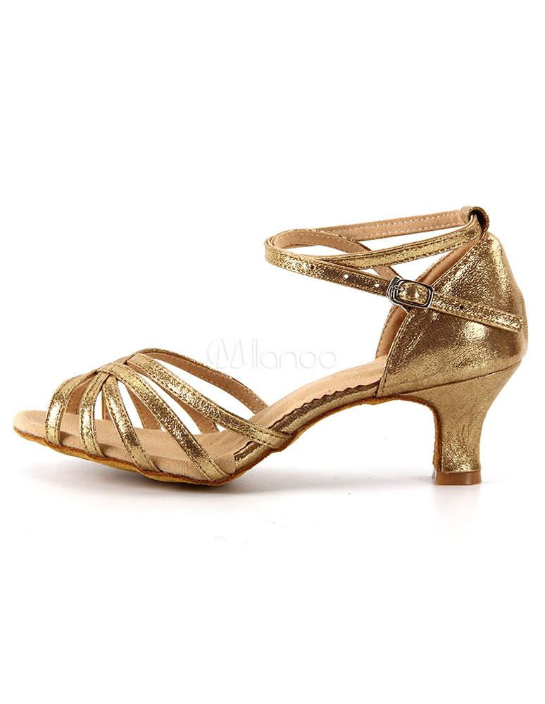 Zapatos sexy de bailes latinos de tela-brillantes 8TwV6