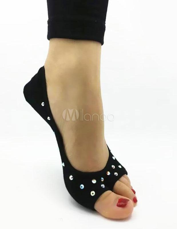 rosa de diamantes de imitación zapatos danza lana de tejer milanoo com