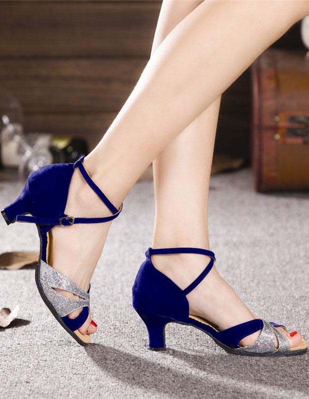 Zapatos de bailes latinos de felpa de estilo chic ZzUQP7tA