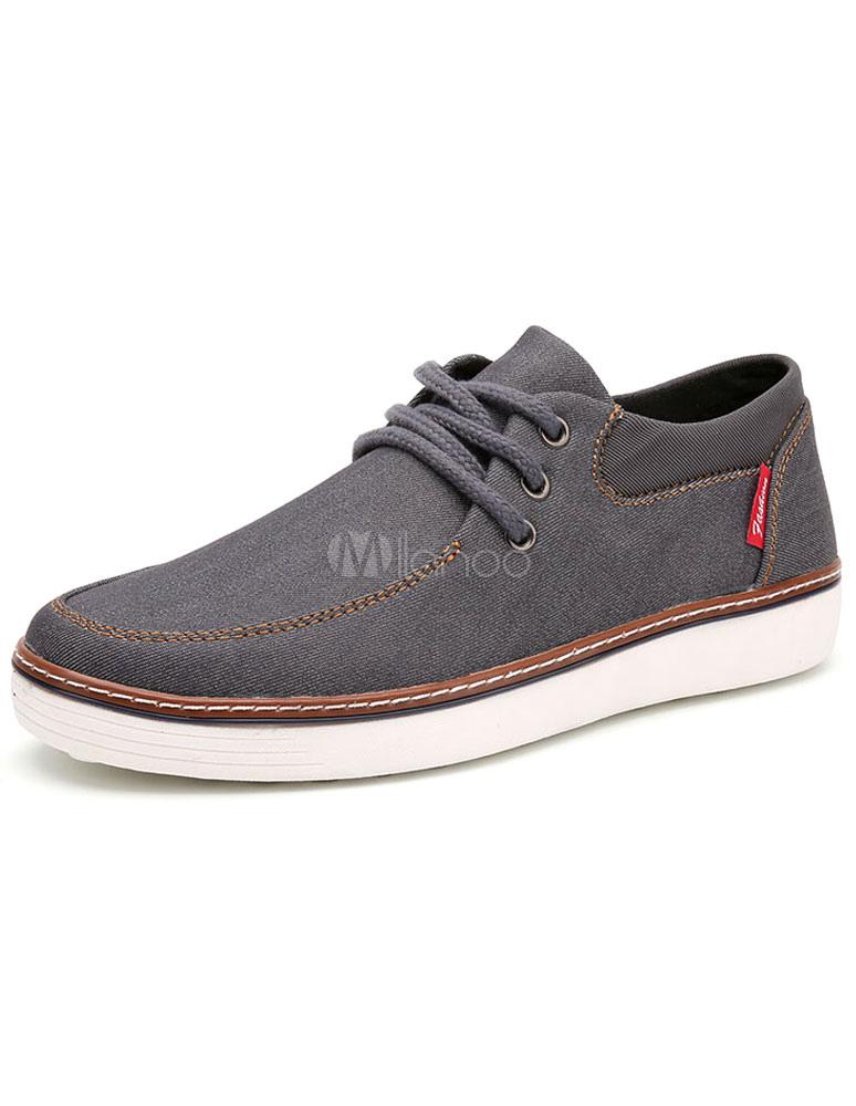 Tela Ata De Zapatos Hombres Vaquera Para 7wf5qRx4