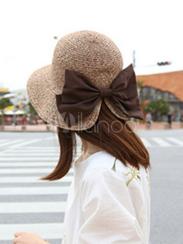 Woven Fabulous Hat With Big Bow