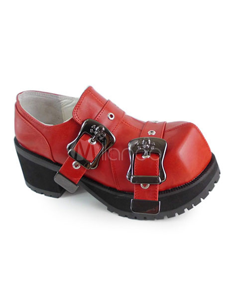 Zapatos Lolita Tacones Hebillas de estilo chic NZhlJ