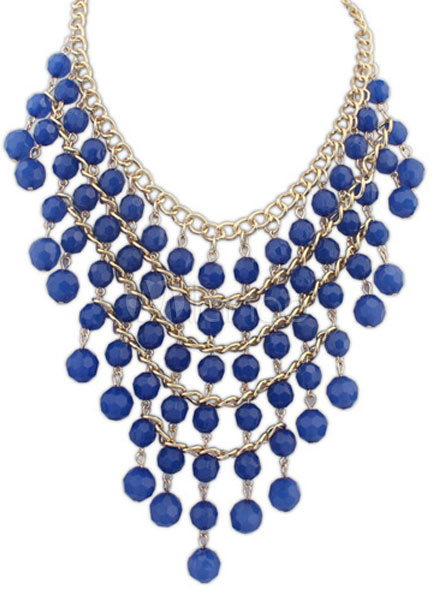 Women's Tiered Layered Bohemian Statement Necklace
