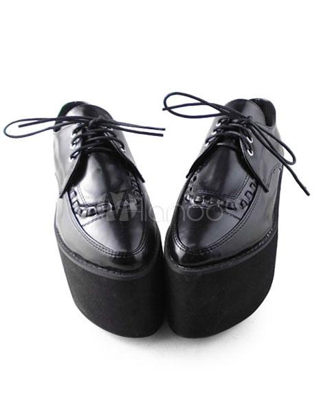 Zapatos Góticos Negros Lolita Alta Platforma 5iSuQAjR0