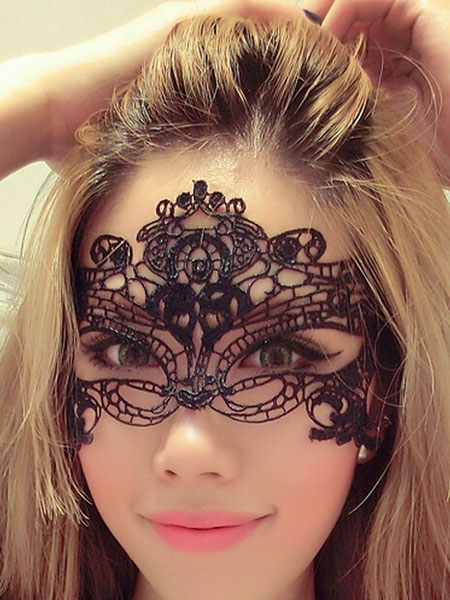 Black Lace Eyepatch Women Sexy Lingerie Accessories