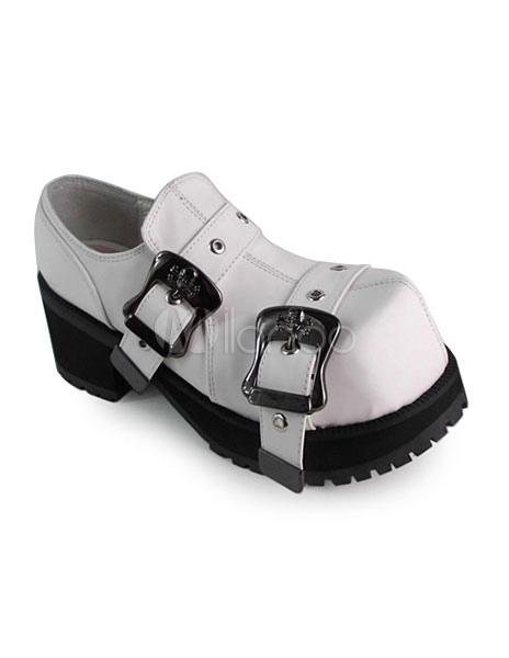 Zapatos Lolita Tacones Hebillas de estilo chic 7DQ5JuWgv